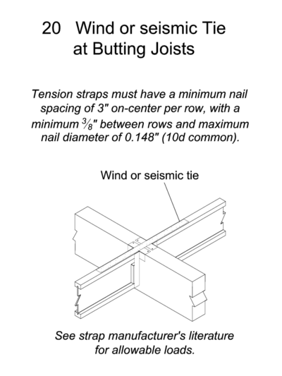 20 Wind of Seismic Tie at Butting Joists Thumbnail