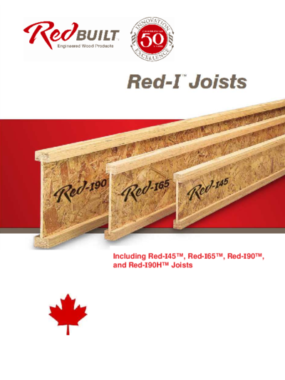 Red-I™ I-Joist Tables for Canada Thumbnail