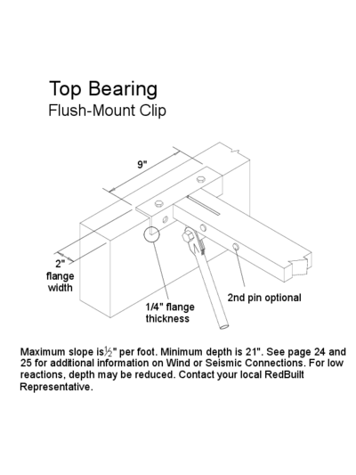 Top Bearing (Flush-Mount Clip) (OW-04) Thumbnail