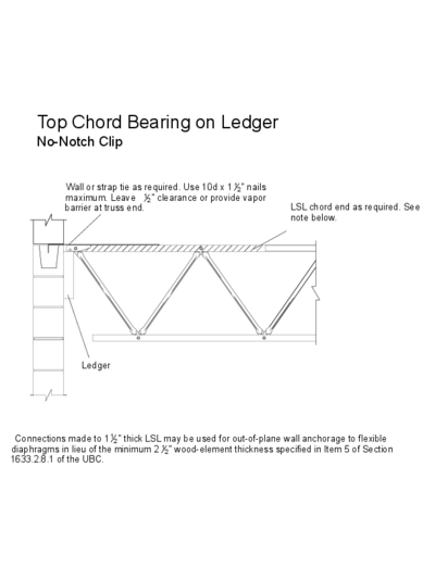 Top Chord Bearing on Ledger (No-Notch Clip) Thumbnail