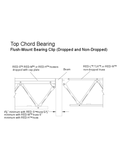 Top Chord Bearing (Flush-Mount Bearing Clip) (OW-08) Thumbnail
