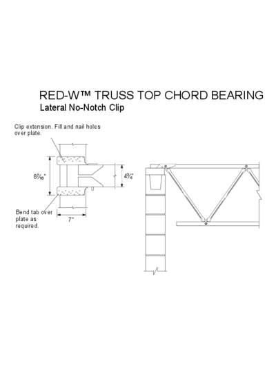 Red-W™ Truss Top Chord Bearing Thumbnail