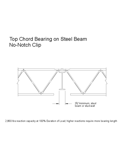 Top Chord Bearing on Steel Beam (No-Notch Clip) Thumbnail