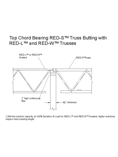Top Chord Bearing Red-S™ Truss Butting with Red-L™ and Red-W™ Trusses Thumbnail