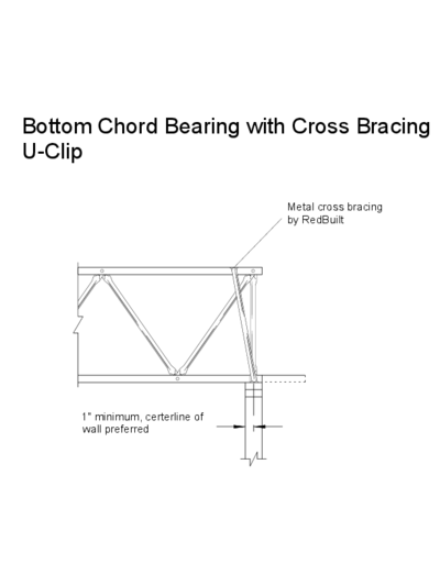 Bottom Chord Bearing with Cross Bracing (U-Clip) Thumbnail