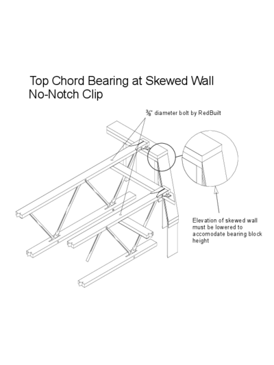 Top Chord Bearing at Skewed Wall (No-Notch Clip) Thumbnail