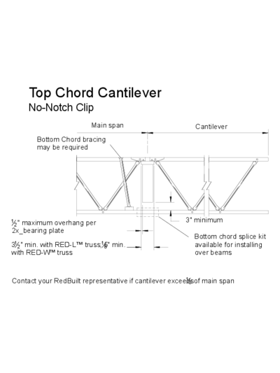 Top Chord Cantilever (No-Notch Clip) Thumbnail