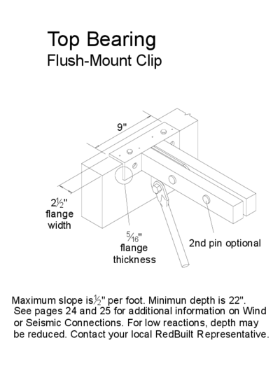 Top Bearing (Flush-Mount Clip) (OW-24) Thumbnail
