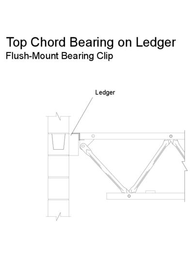 Top Chord Bearing on Ledger (Flush-Mount Bearing Clip) Thumbnail