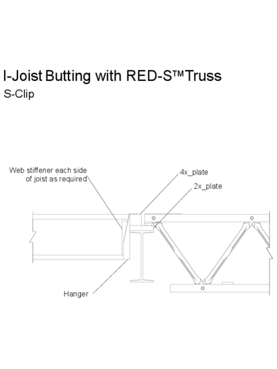 I-Joist Butting with Red-S™ Truss (S-Clip) Thumbnail