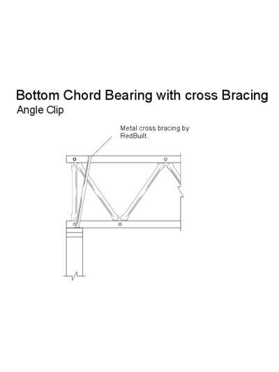 Bottom Chord Bearing with Cross Bracing (Angle Clip) Thumbnail