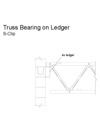 Truss Bearing on Ledger (S-Clip) Thumbnail