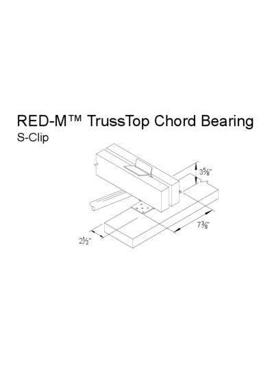 Red-M™ Truss Top Chord Bearing (S-Clip) Thumbnail