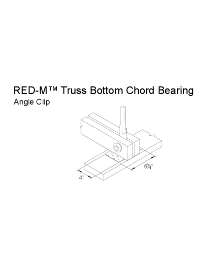 Red-M™ Truss Bottom Chord Bearing (Angle Clip) Thumbnail