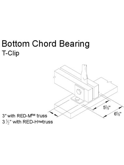Bottom Chord Bearing (T-Clip) Thumbnail