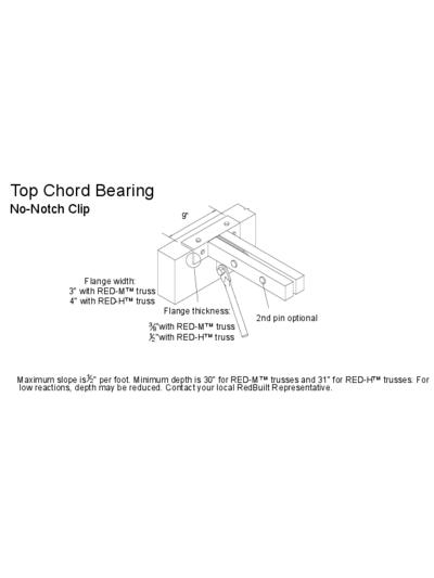 Top Chord Bearing (No-Notch Clip) (OW-42) Thumbnail