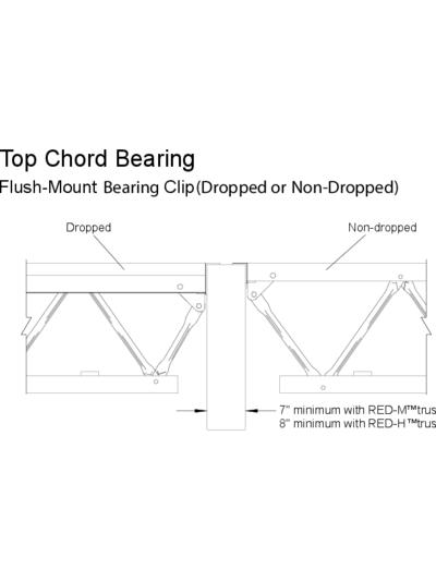 Top Chord Bearing (Flush-Mount Bearing Clip) (OW-46) Thumbnail