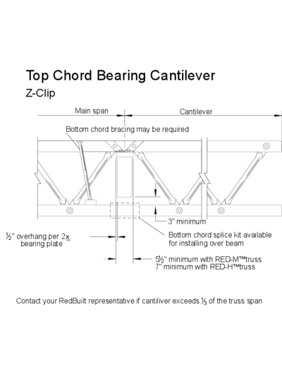 Top Chord Bearing Cantilever (Z-Clip) Thumbnail