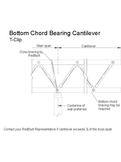 Bottom Chord Bearing Cantilever (T-Clip) Thumbnail