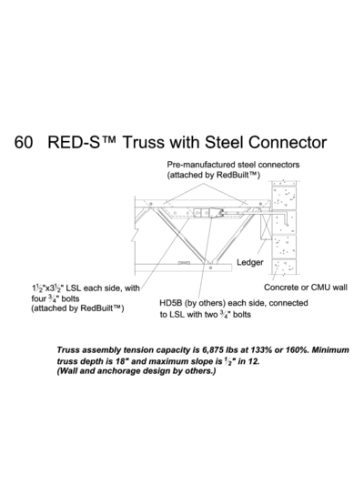 60 RED-S™ Truss with Steel Connector Thumbnail