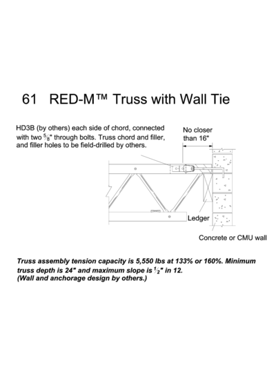 61 RED-M™ Truss with Wall Tie Thumbnail