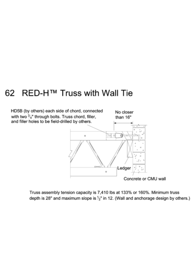 62 RED-H™ Truss with Wall Tie Thumbnail