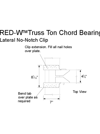 RED-W™ Truss Ton Chord Bearing (Lateral No-Notch Clip) Thumbnail