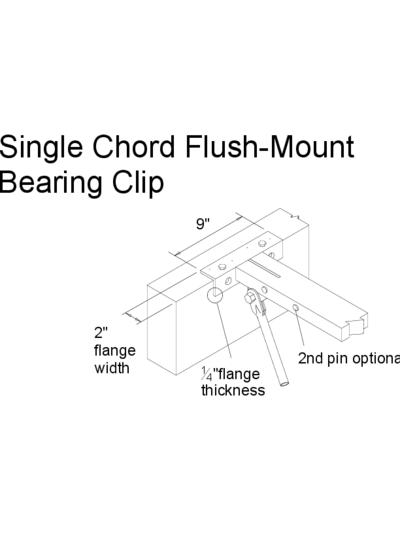 Single Chord Flush-Mount Bearing Clip Thumbnail
