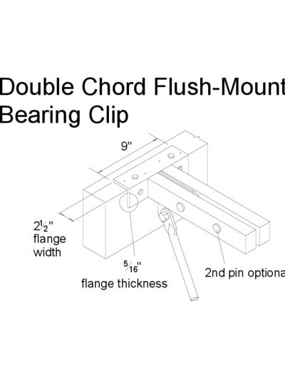 Double Chord Flush-Mount Bearing Clip Thumbnail