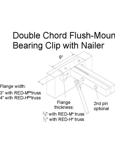 Double Chord Flush-Mount Bearing Clip with Nailer Thumbnail