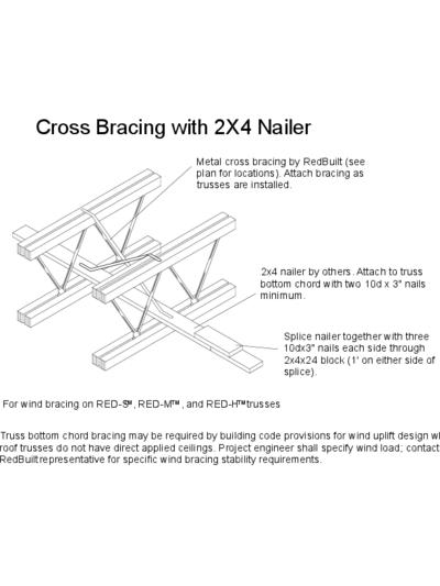 Cross Bracing with 2×4 Nailer Thumbnail
