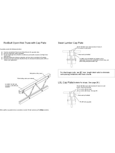 RedBuilt Open-Web Truss with Cap Plate (Swan Lumber Cap Plate and LSL Cap Plate) Thumbnail
