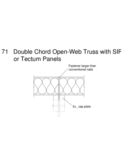 71 Double Chord Open-Web Truss with SIP or Tectum Panels Thumbnail