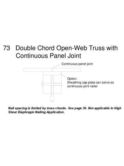 73 Double Chord Open-Web Truss with Continuous Panel Joint Thumbnail