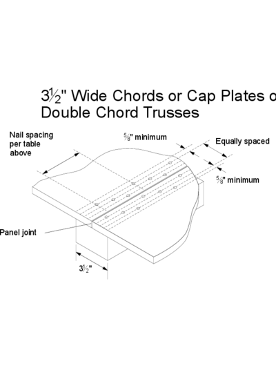 "76 – 3½"" Wide Chords or Cap Plates on Double Cord Trusses Thumbnail"