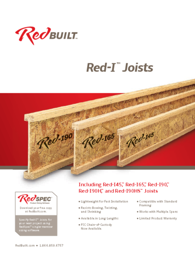 Red-I™ I-Joist Specifier's Guide Thumbnail