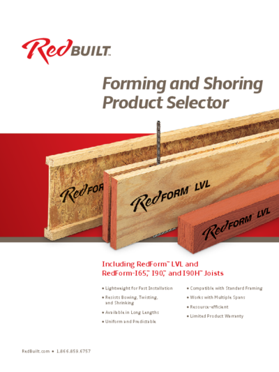 Forming and Shoring Product Selector Thumbnail