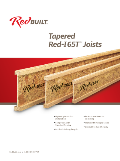 Tapered Red-I65T™ I-Joist Specifier's Guide Thumbnail