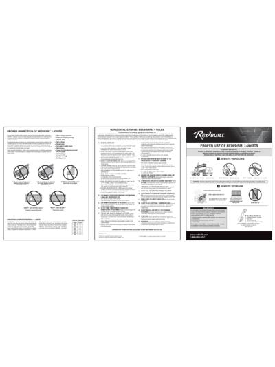 Installation Information – RedForm™ I-Joists Thumbnail