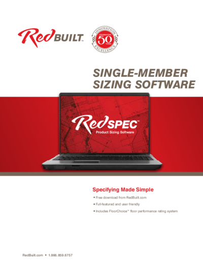 RedSpec™ Product Sizing Software Brochure Thumbnail