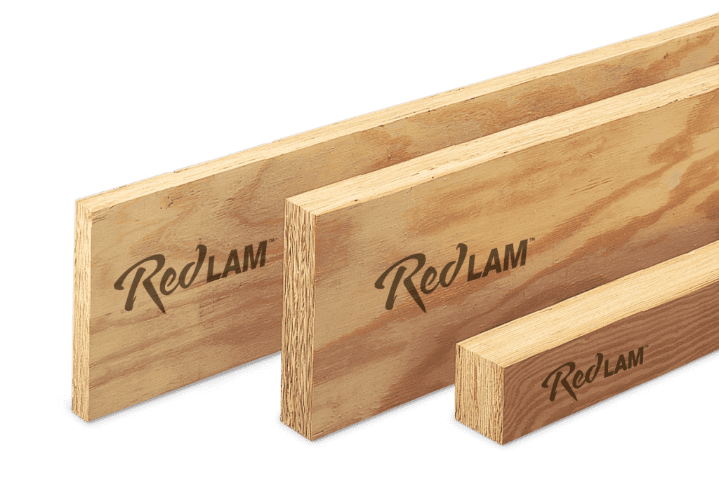 Three examples of RedLam LVL products